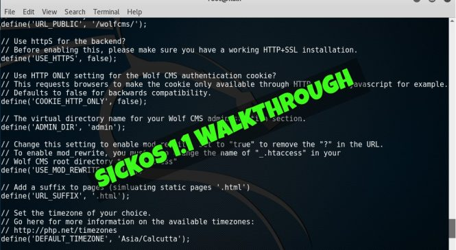 SickOS 1.1 Walkthrough