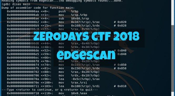 "ZeroDays CTF 2018 – ""edgescan"" Challenge"