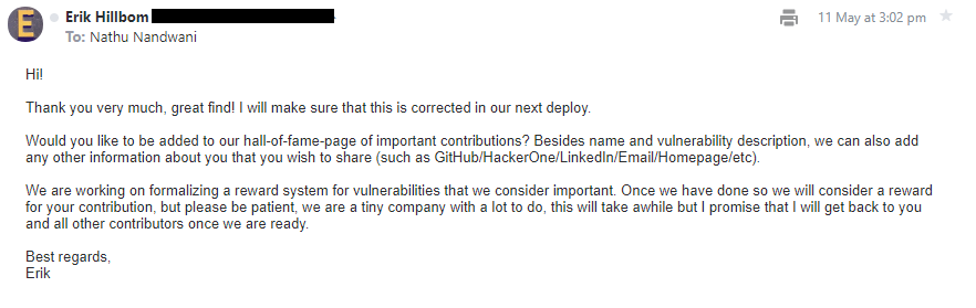Trovisio Responsible Disclosure – Password Hash Leakage