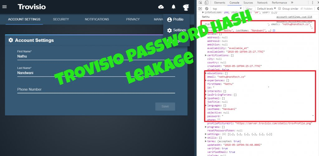Trovisio Responsible Disclosure – Password Hash Leakage – NandTech