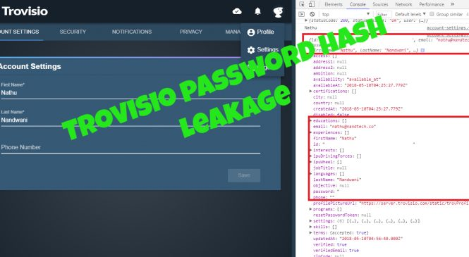 Trovisio Responsible Disclosure – Password Hash Leakage