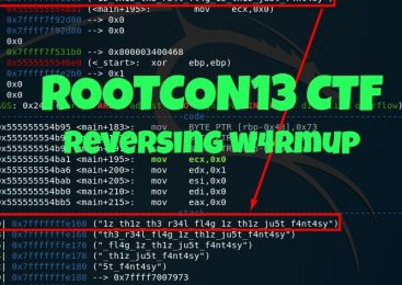 ROOTCON13 CTF – Reverse Engineering – W4RMUP