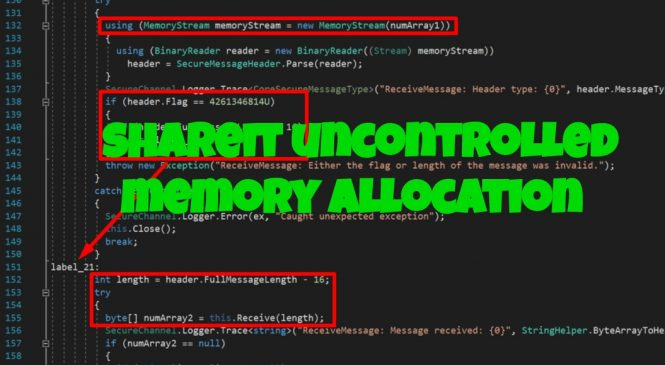 SHAREIt Uncontrolled Memory Allocation